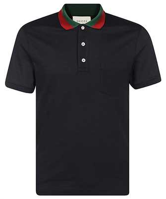 Gucci 408321 X7331 WEB COLLAR Polo