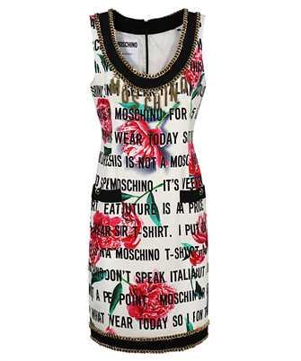 Moschino A0405 561 SLOGAN & FLOWERS CADY Dress