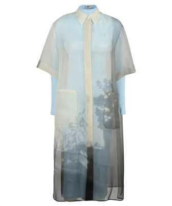 Fendi FDB530 AF7Q SHIRT-STYLE MIDI ORGANZA Dress