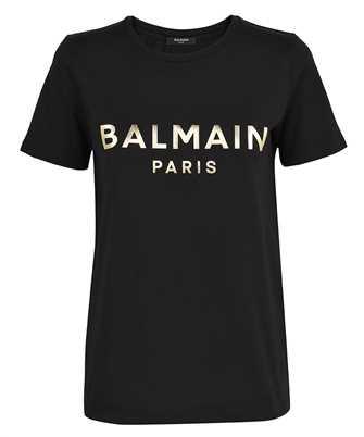 Balmain VF0EF000B020 METALLIC LOGO T-shirt