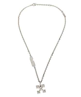 Off-White OMOB067F20MET001 INDUSTRIAL TEXTURE ARROW Necklace