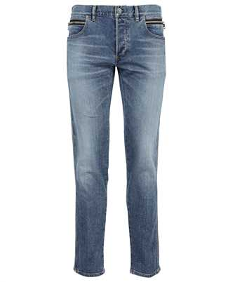 Balmain WH1MH030145D B EMBOSSED SIDE RIBBED TAPERED Jeans