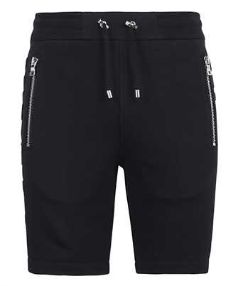 Balmain VH1OA000B072 EMBOSSED PARIS LOGO Shorts