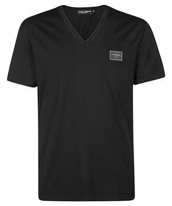 Dolce & Gabbana G8KK0T FU7EQ BRANDED PLATE T-shirt