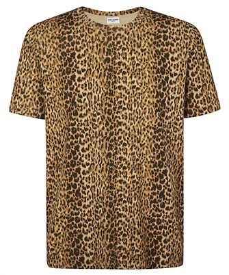 Saint Laurent 633119 YBWK2 LEOPARD-PRINT T-shirt
