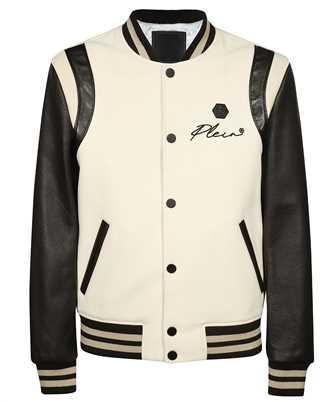 Philipp Plein FAAC MLB1414 PLE010N LEATHER BOMBER EMBROIDERY SIGN Jacket