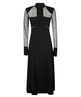 Karl Lagerfeld 206W1305 LACE AND SILK MIDI Dress
