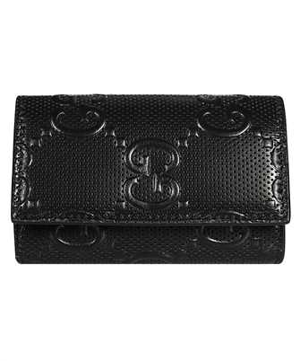 Gucci 625565 1W3AN GG EMBOSSED Key holder