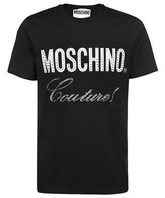 Moschino A 0734 7040 CRYSTAL LOGO JERSEY T-shirt
