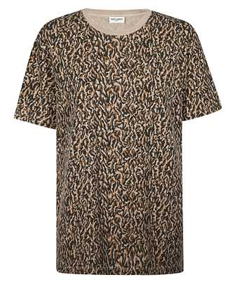 Saint Laurent 628558 YBUY2 LEOPARD-PRINT T-shirt