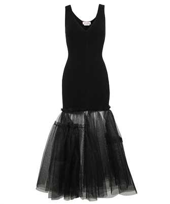 Alexander McQueen 659529 Q1AUJ ENGINEERED KNIT TULLE Dress