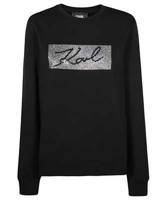 Karl Lagerfeld 206W1810 RHINESTONE SIGNATURE Sweatshirt
