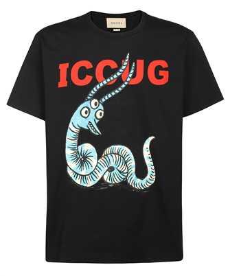 Gucci 548334 XJDJW FREYA HARTAS ICCUG ANIMAL PRINT T-shirt