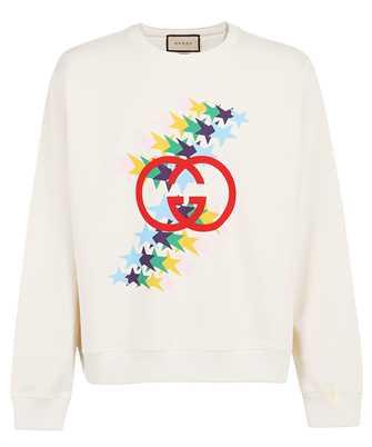Gucci 626990 XJDNK INTERLOCKING G STAR FLASH PRINT COTTON Sweatshirt