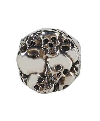 Alexander McQueen 663691 J160Y MULTI SKULL Ring
