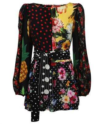 Dolce & Gabbana F75E3T GDY58 PATCHWORK CREPE DE CHINE Shirt