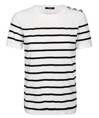 Balmain TF11350J033 RED LOGO T-shirt