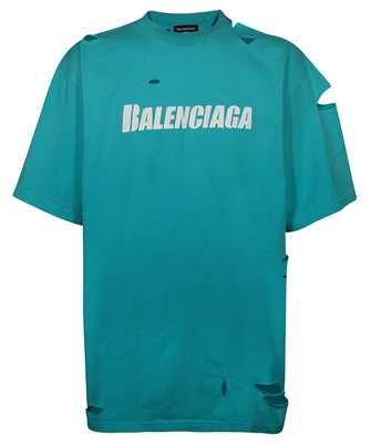 Balenciaga 651795 TKVB8 CAPS DESTROYED FLATGROUND T-shirt