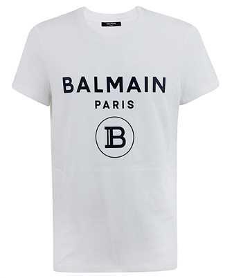 Balmain UH11601I371 RUBBER LOGO T-shirt