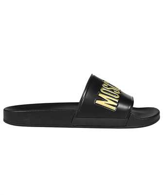 Moschino MB28022G1C G1G PVC WITH LOGO Slides