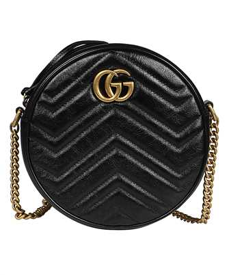 Gucci 550154 0OLET GG MARMONT MINI ROUND Bag