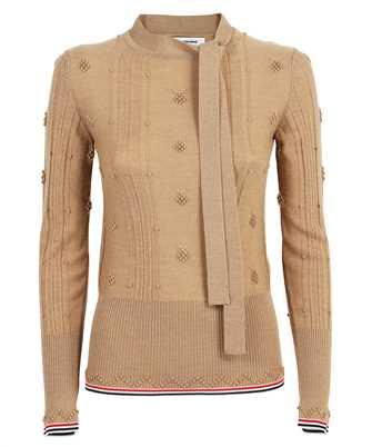 Thom Browne FKA340A Y1003 NOVELTY CREST STITCH NECK TIE Knit