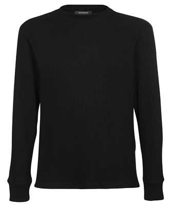 Nahmias WT SHIRT BLACK WAFFLE THERMAL Knit