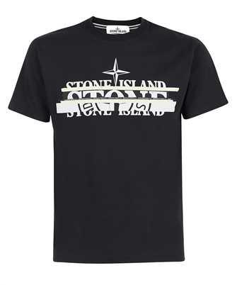 Stone Island 2NS82 COTTON JERSEY 'MIXED MEDIA ONE' PRINT_SLIM FIT T-shirt