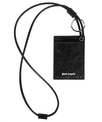 Palm Angels PMNH006F21LEA002 CRINKLE LEATHER NECK Card holder