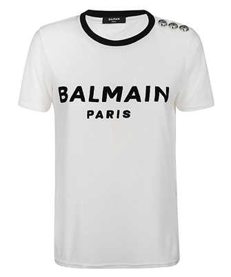 Balmain TF01350I417 VELVET LOGO T-shirt