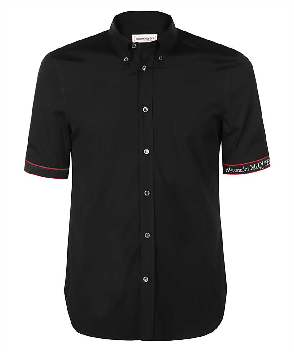 Alexander McQueen 642400 QQN44 LOGO TAPE BRAD PITT Shirt 1
