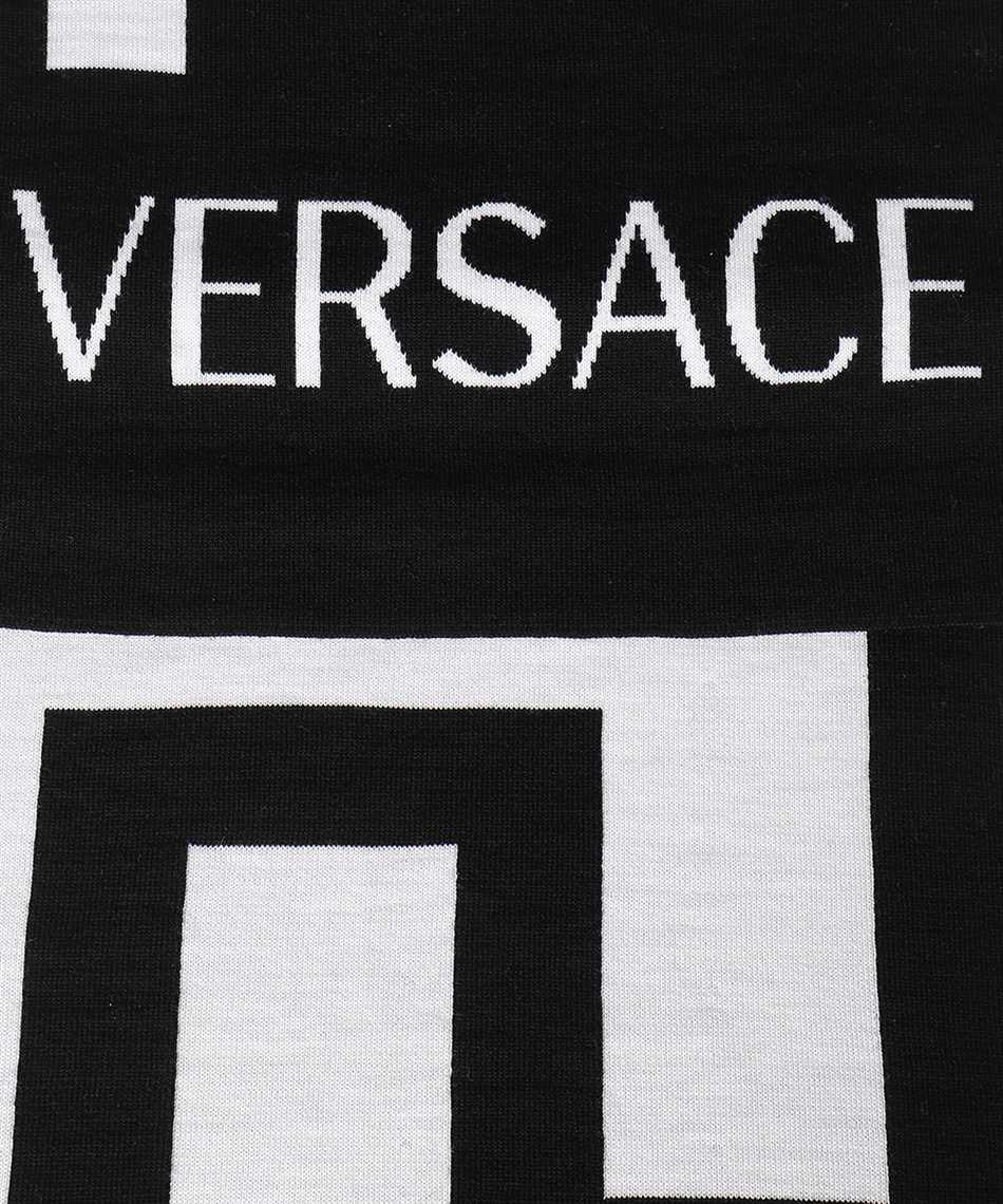 Versace ISC3003 A236140 GRECA WOOL JACQUARD Scarf 2