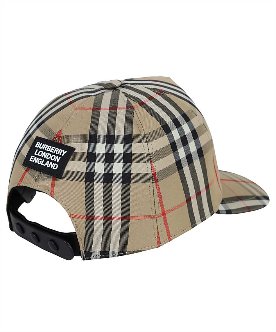 Burberry 8026929 LOGO APPLIQUÉ VINTAGE CHECK BASEBALL Cap 2