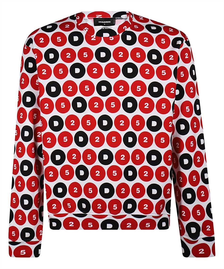 Dsquared2 S78GU0044 S25490 D25 FULL PRINT Sweatshirt 1
