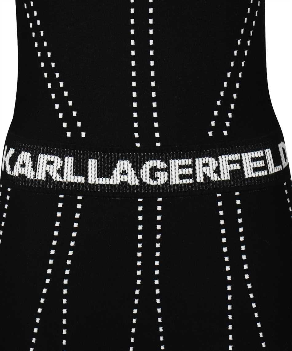 Karl Lagerfeld 216W2031 CONTRAST STITCH KNIT Dress 3