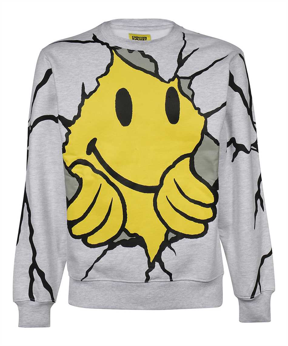 Chinatown Market 1960052 SMILEY DRY WALL BREAKER Sweatshirt 1
