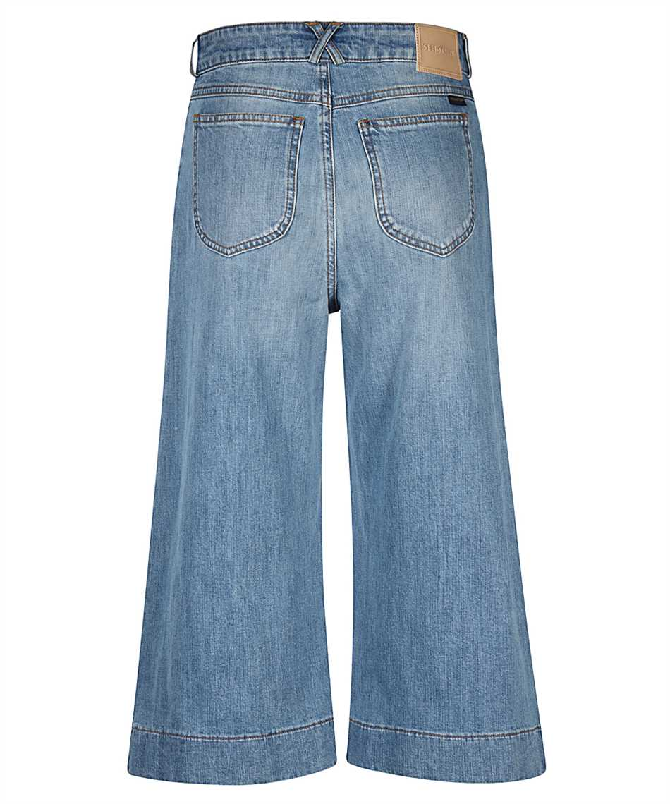See By Chloè CHS21SDP02150 SIGNATURE JEAN Shorts 2