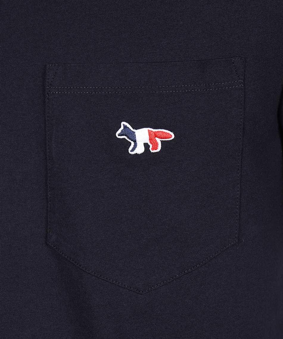 Maison Kitsune FM00120KJ0010 TRICOLOR FOX PATCH POCKET T-Shirt 3