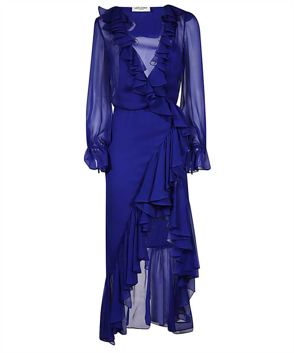 Saint Laurent 633941 Y115W RUFFLED WRAP Kleid 1