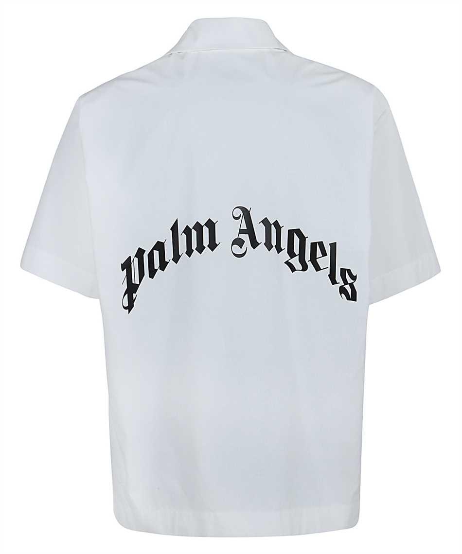Palm Angels PMGA037S21FAB006 CURVED LOGO BOWLING Shirt 2
