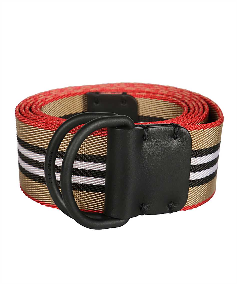 Burberry 8010425 ICON STRIPE DOUBLE D-RING Belt 2