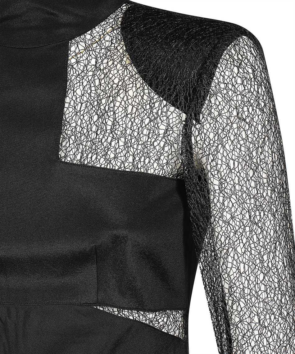 Karl Lagerfeld 206W1305 LACE AND SILK MIDI Dress 3
