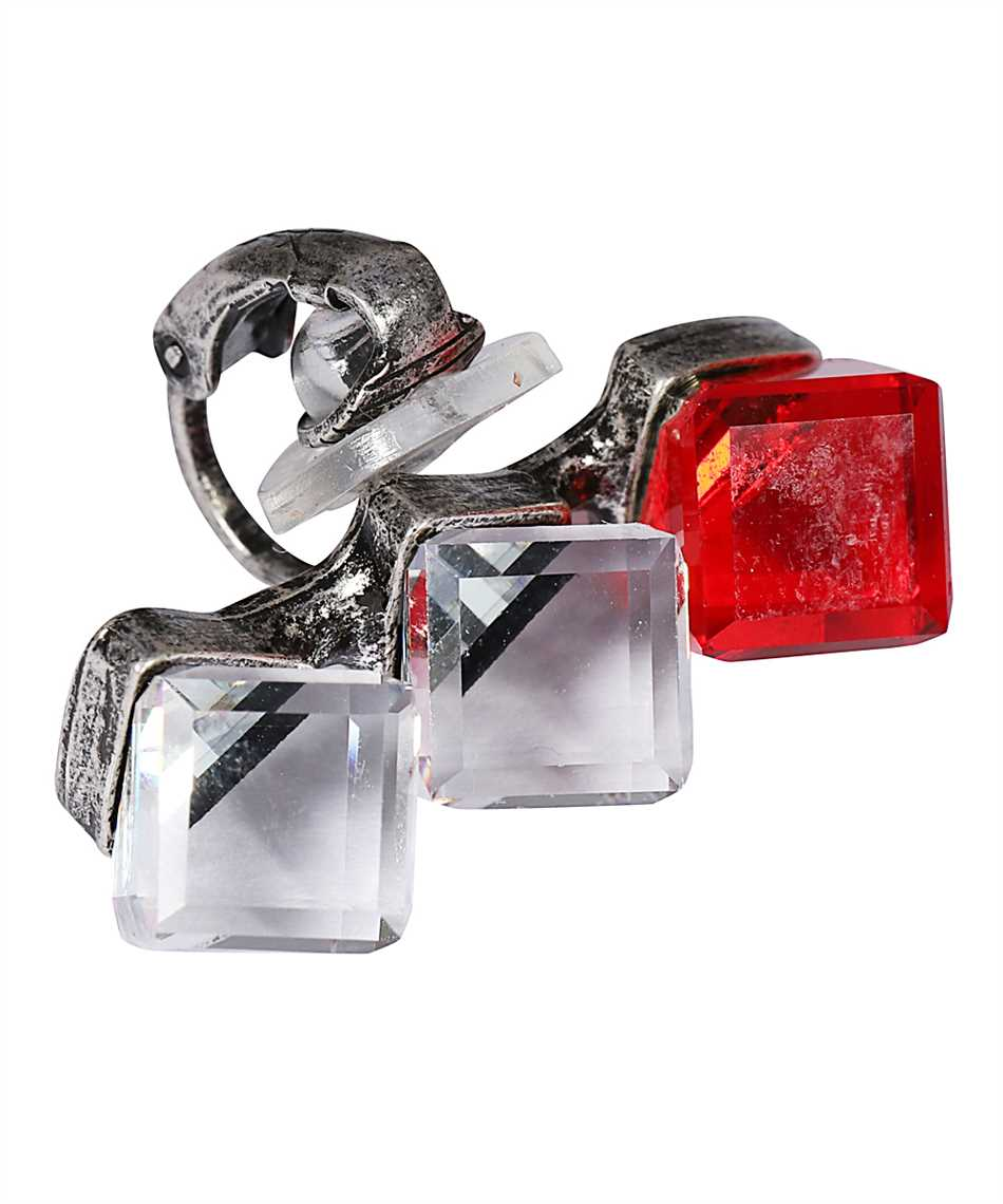 Saint Laurent 637225 Y1526 SMOKING TRIPLE-CRYSTAL CUBE Earring 3