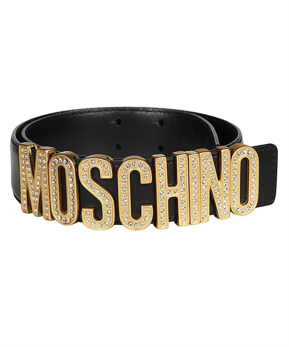 Moschino A8013 8006 RHINESTONES LOGO Belt 2
