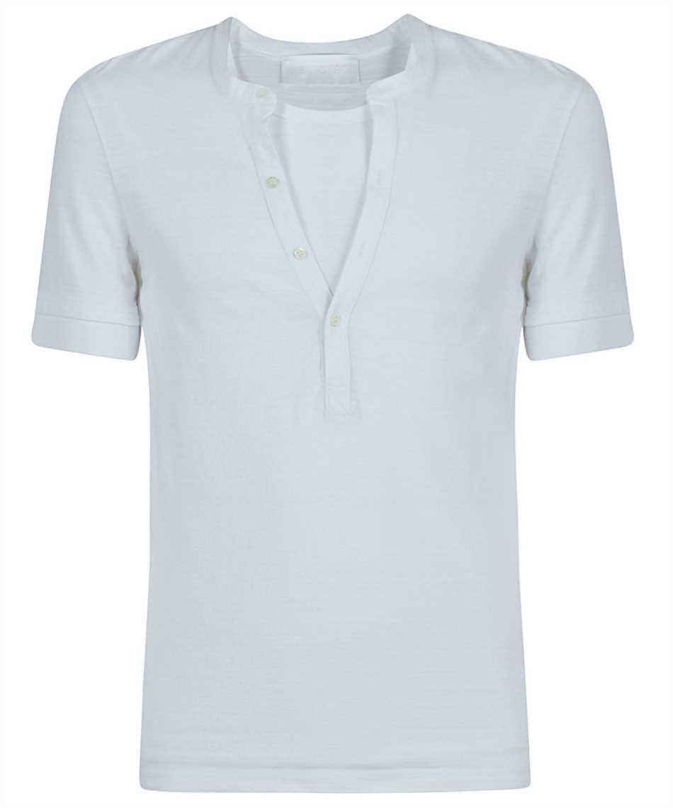 Neil Barrett PBJT886 Q521S TRAVEL HYBRID HENLEY T-shirt 1