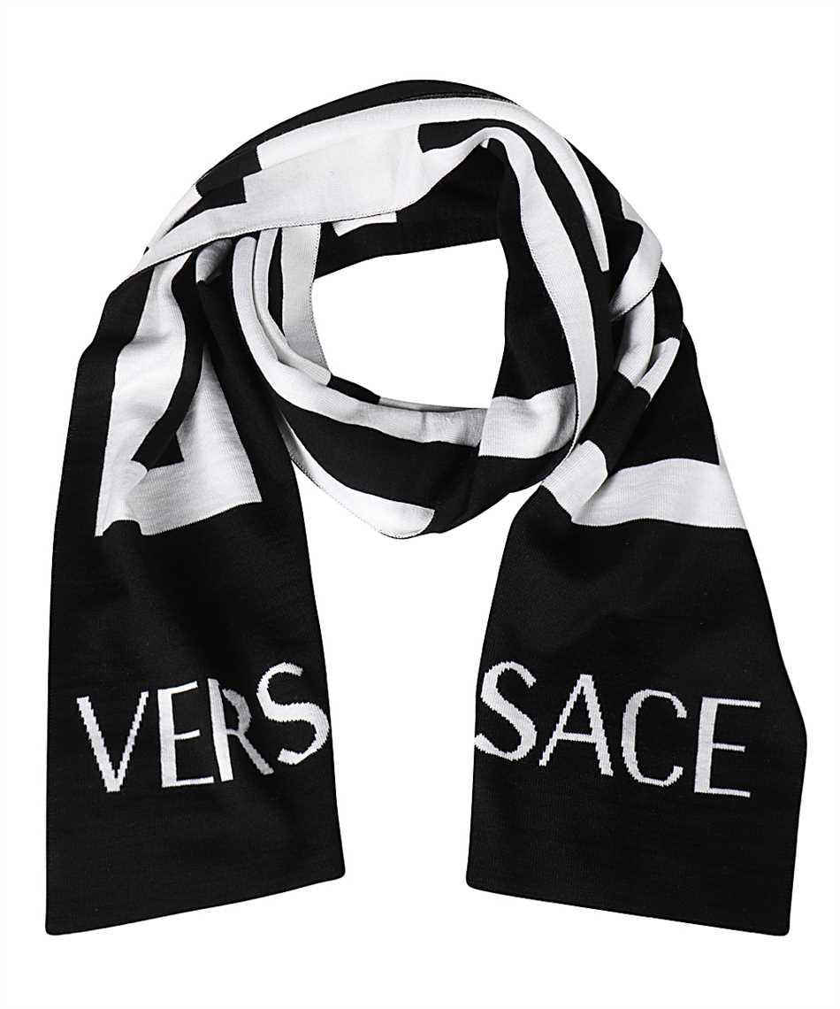Versace ISC3003 A236140 GRECA WOOL JACQUARD Scarf 1