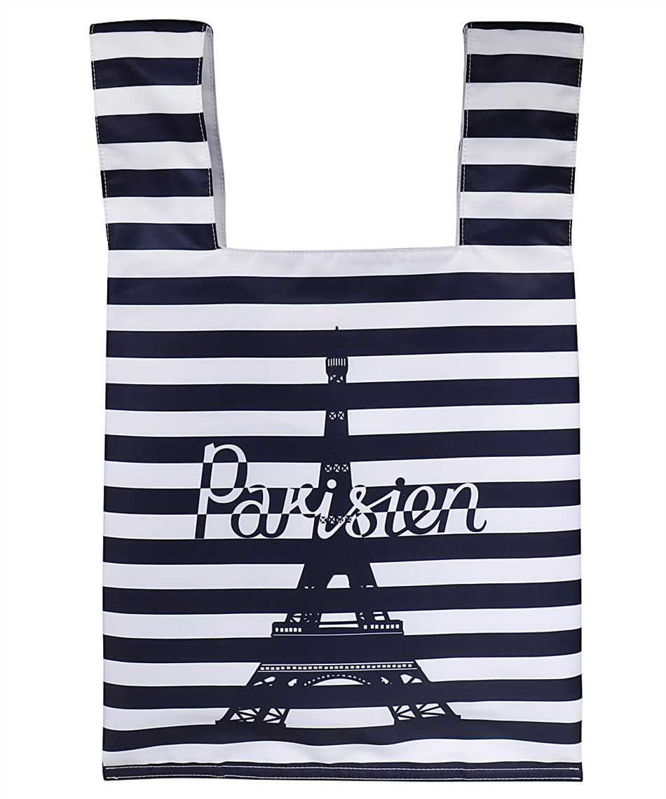 Maison Kitsune GU06125WQ40008 PARISIEN TOWER STRIPES NYLON Taška 2