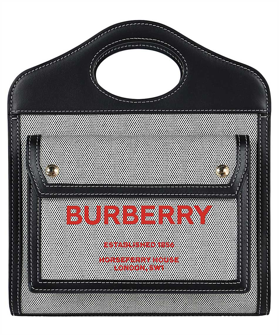 Burberry 8036814 MINI TWO-TONE CANVAS AND LEATHER POCKET Tasche 1
