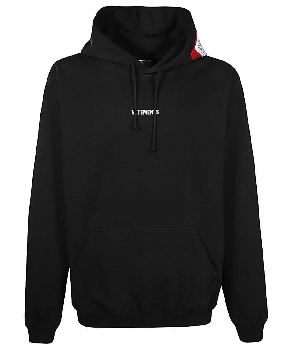 Vetements UE51TR550B LOGO PATCH Kapuzen-Sweatshirt 1