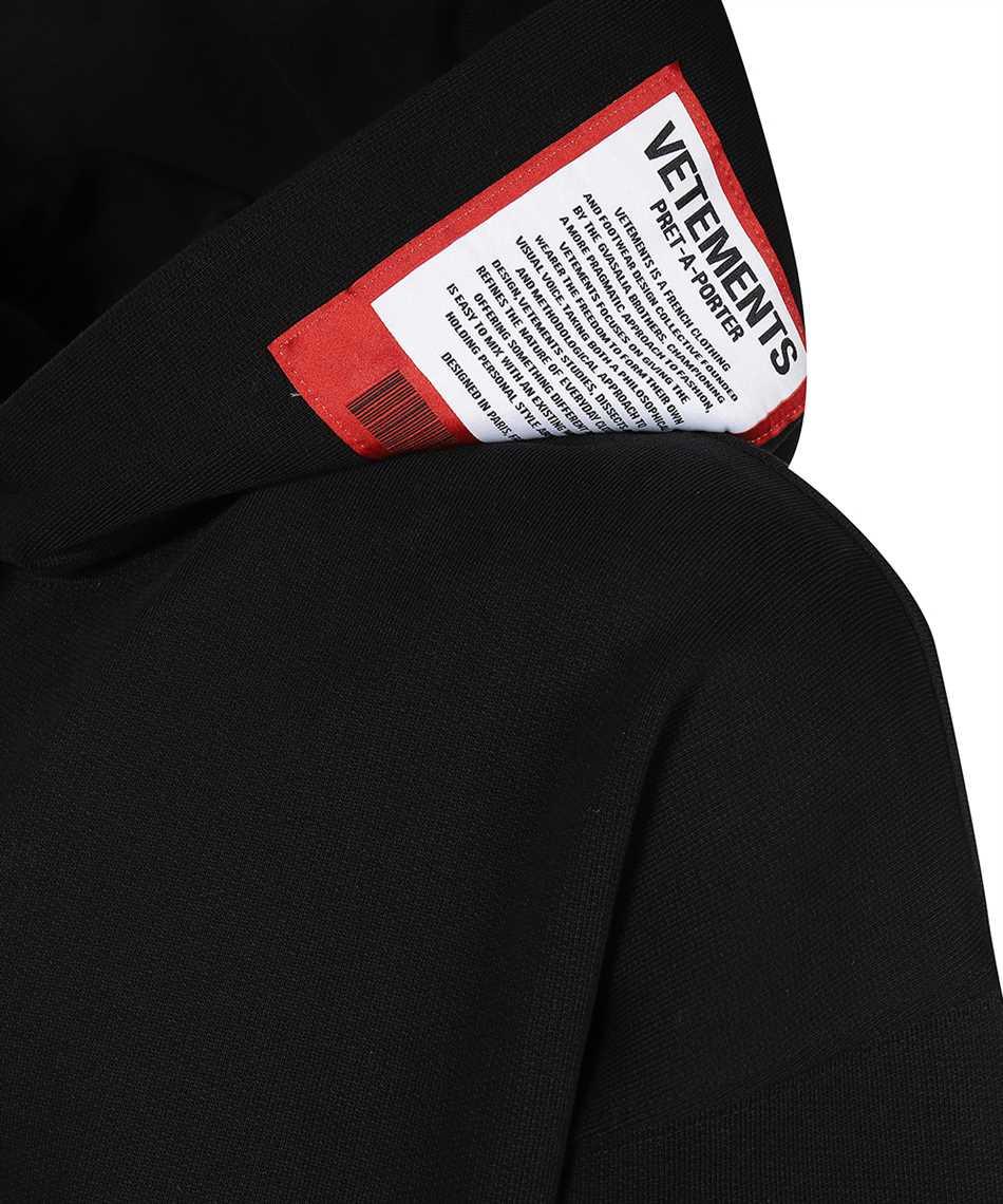 Vetements UE51TR550B LOGO PATCH Kapuzen-Sweatshirt 3